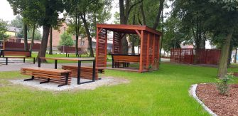 Zagospodarowanie parku w Rudnikach