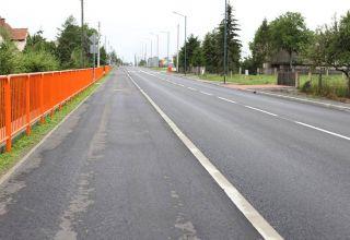 Droga przez Olesno coraz lepsza